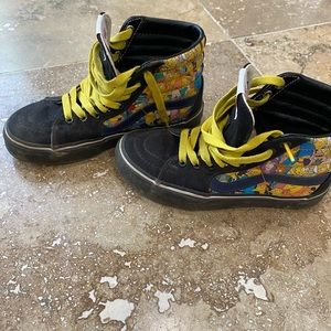VANS Custom limited edition Simpsons high tops